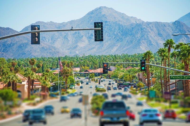 Carretera del Palm Springs foto de archivo libre de regalías
