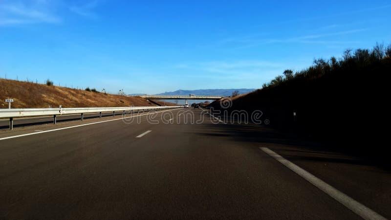 Carretera en Francia fotografía de archivo libre de regalías