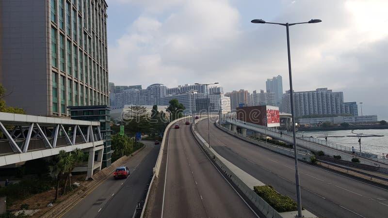 Carretera en Kowloon Hong Kong foto de archivo