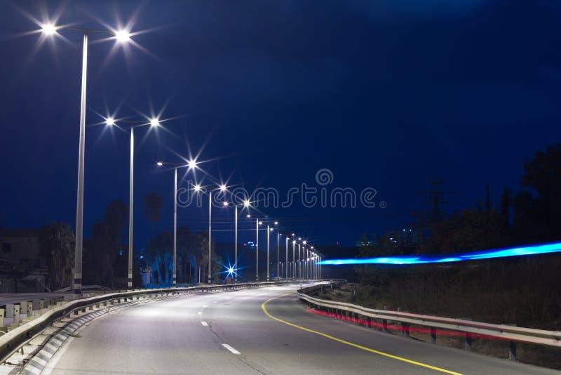 Carretera en la noche imagen de archivo libre de regalías