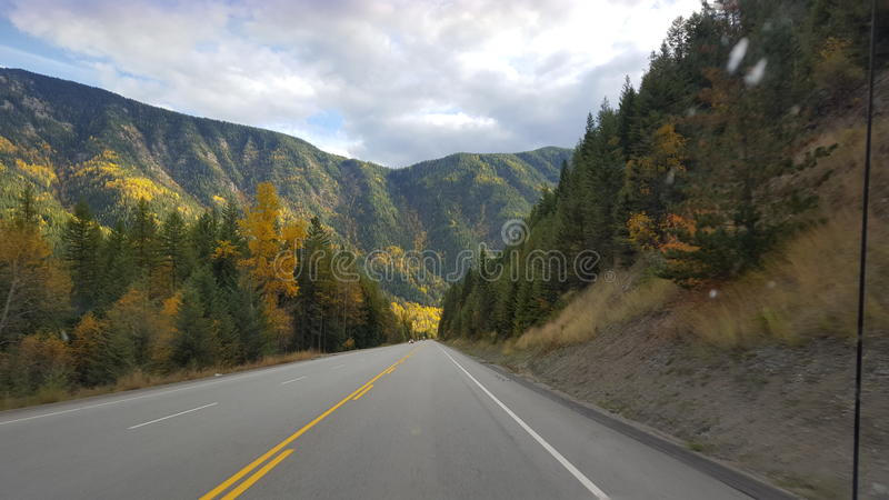 Carretera hermosa foto de archivo libre de regalías