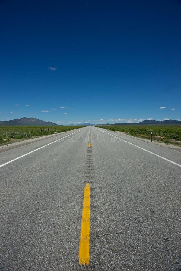 Carretera larga de Idaho foto de archivo