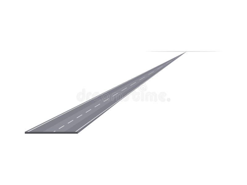 Carretera lisa en diagonal al horizonte ilustración del vector