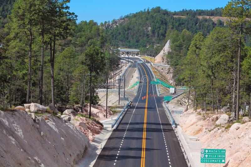 Carretera México mazatlan de Durango fotos de archivo libres de regalías
