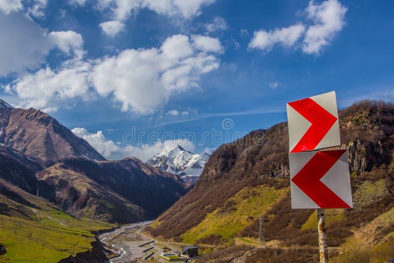 Carretera militar georgiana fotos de archivo