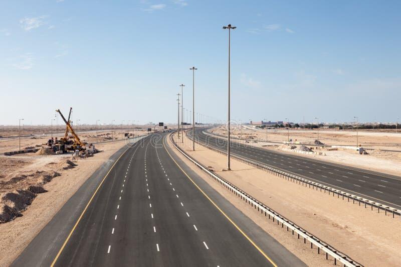 Carretera número uno en Qatar foto de archivo