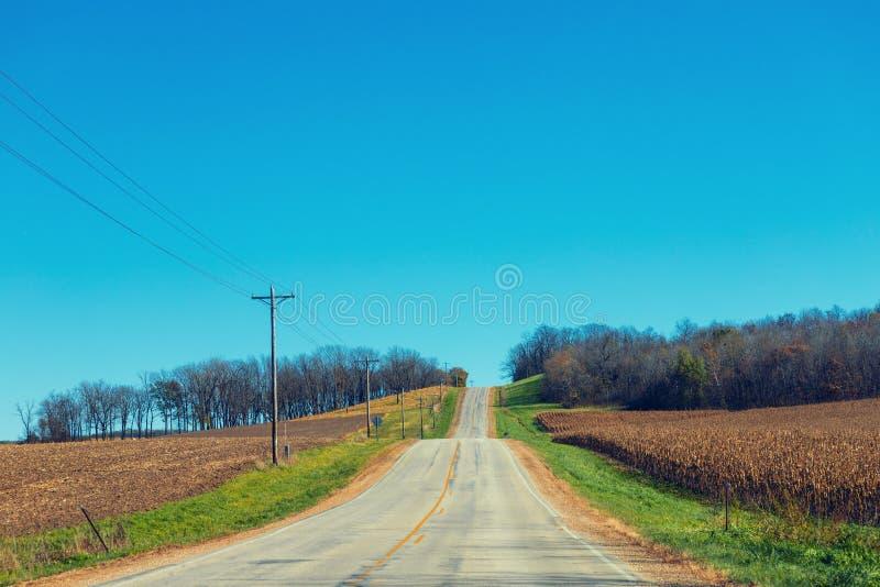 Carretera nacional americana fotos de archivo