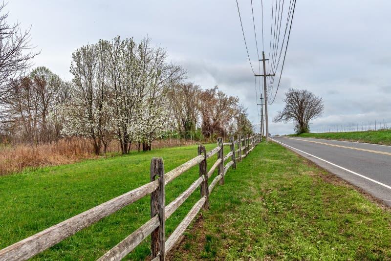 Carretera nacional de la primavera imágenes de archivo libres de regalías