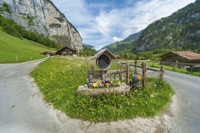 Carretera nacional en suizo foto de archivo libre de regalías
