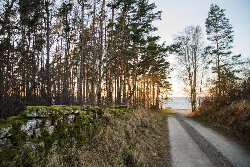Carretera nacional a la costa foto de archivo