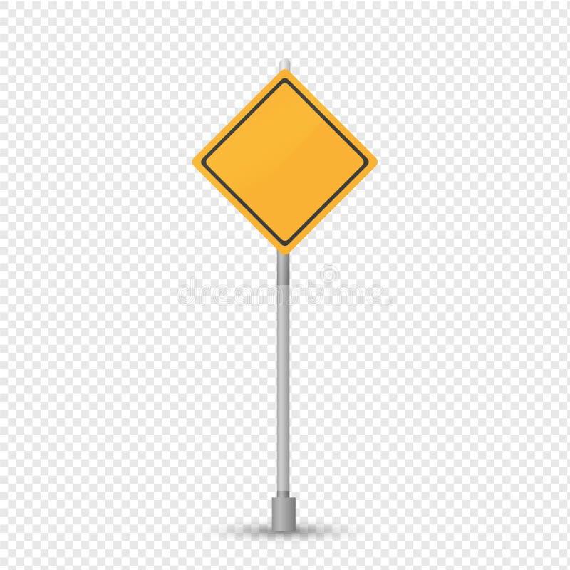 Carretera principal de la señal de tráfico, prioridad sobre adyacente Rhombus amarillo de la muestra libre illustration