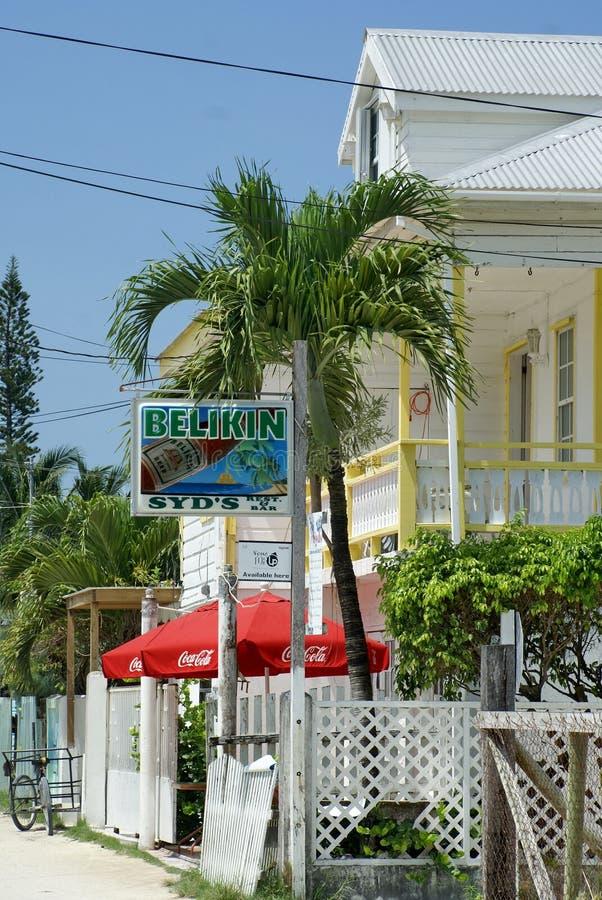 Carretera principal en el calafate de Caye imagen de archivo libre de regalías