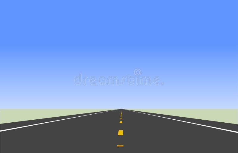 Carretera que va al horizonte libre illustration