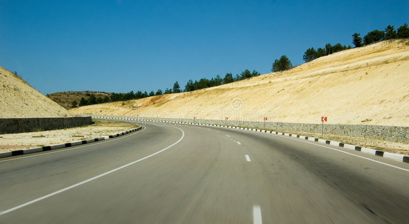 Carretera rápida foto de archivo libre de regalías