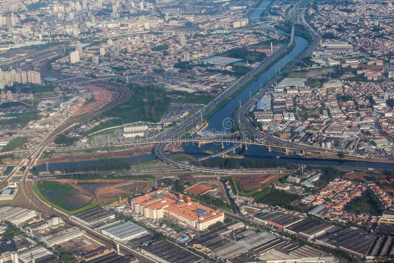 Carretera Sao Paulo el Brasil fotografía de archivo
