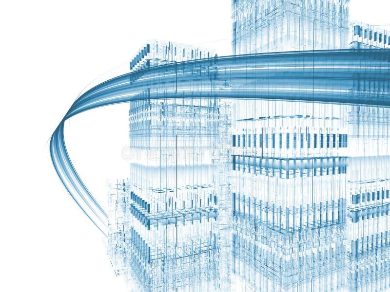 Carretera virtual stock de ilustración