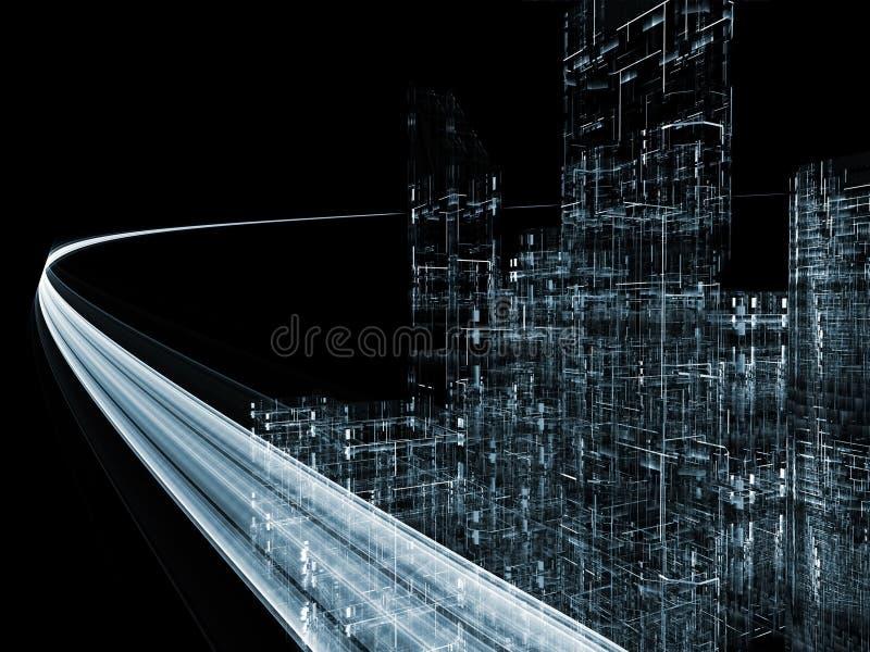 Carretera virtual ilustración del vector