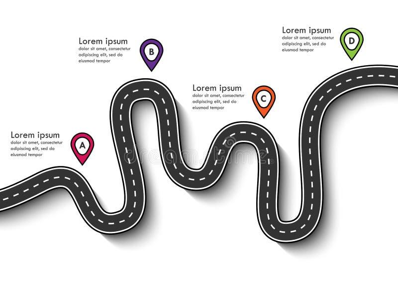 Carreteras con curvas en un fondo blanco imagenes de archivo