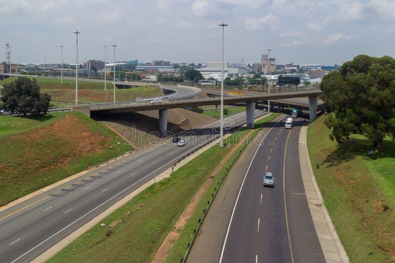Carreteras de Johannesburgo fotografía de archivo libre de regalías