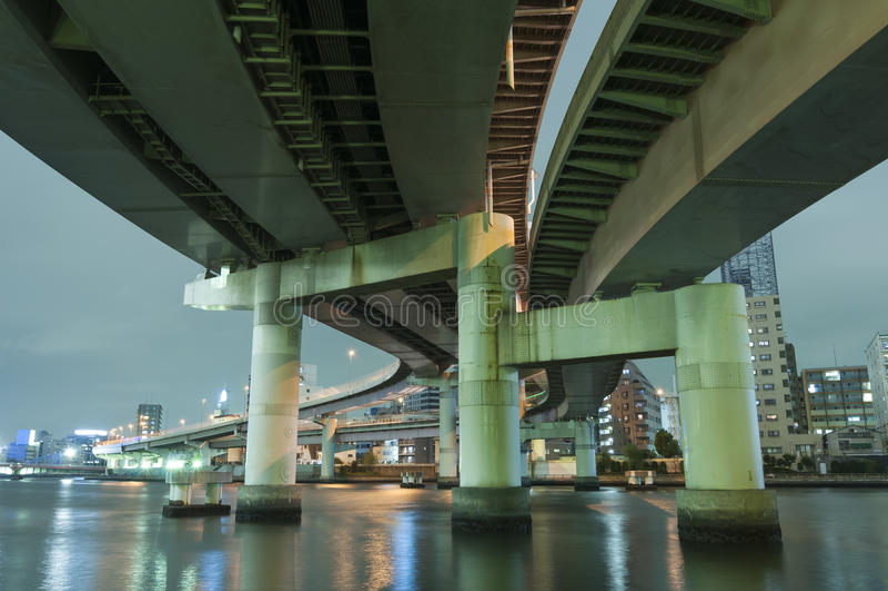 Carreteras en Tokio imágenes de archivo libres de regalías