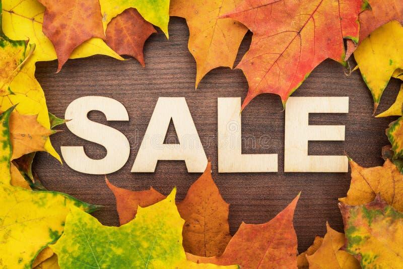 Carretilla de mano sobre las hojas de otoño imágenes de archivo libres de regalías