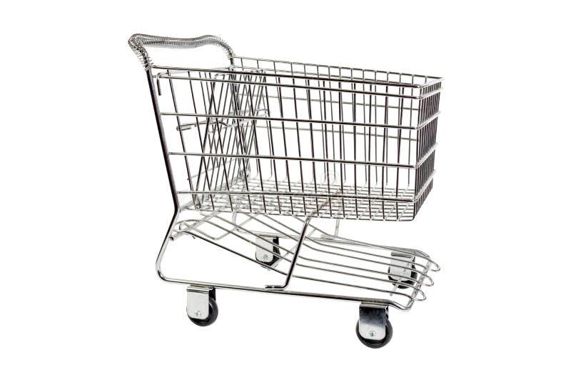 Carretilla del carro de la compra del metal foto de archivo libre de regalías