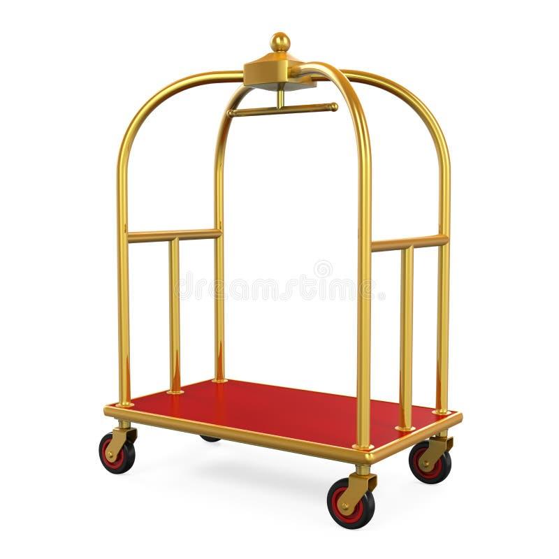 Carretilla del equipaje del hotel stock de ilustración