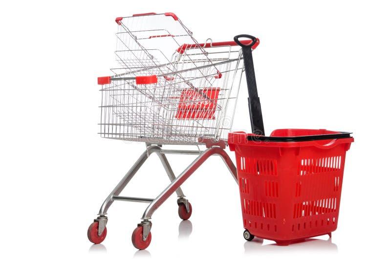 Download Carretilla Del Supermercado De Las Compras Aislada Foto de archivo - Imagen de cromo, recorte: 41914562