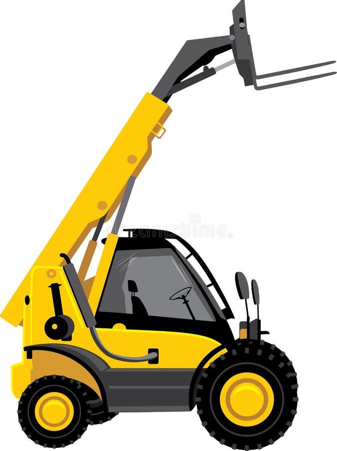 Carretilla elevadora amarilla stock de ilustración
