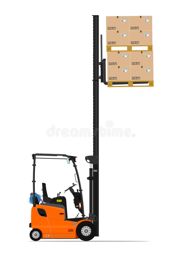 Carretilla elevadora anaranjada del propano stock de ilustración