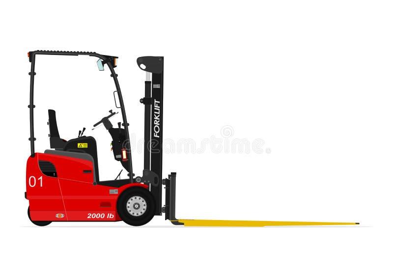 Carretilla elevadora roja ilustración del vector