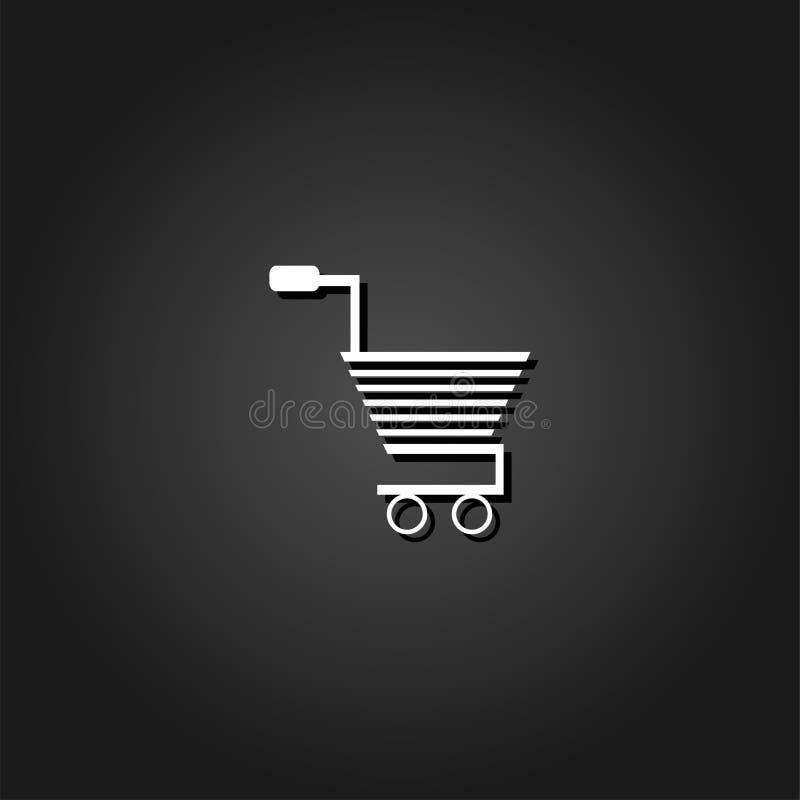 Carretilla para el icono de los productos completamente ilustración del vector
