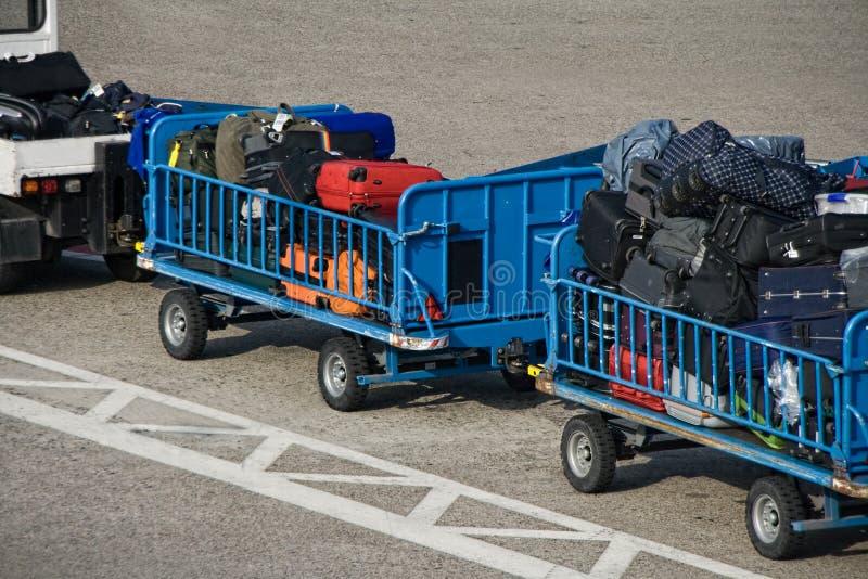 Carretillas del equipaje imagen de archivo libre de regalías