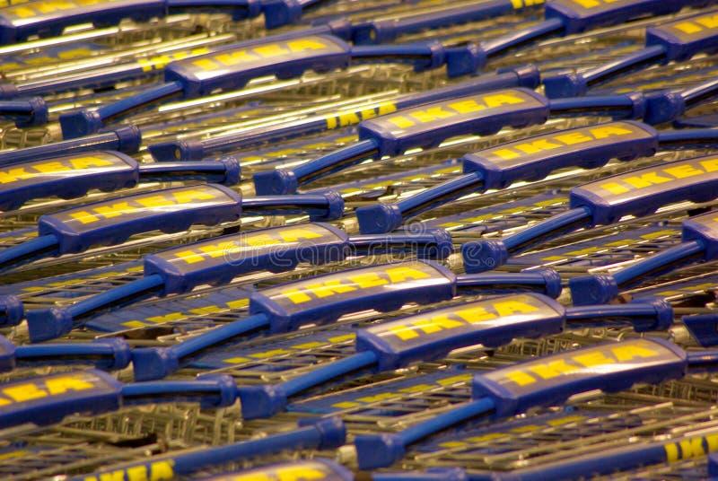 Carretti di trasporto di Ikea immagine stock libera da diritti