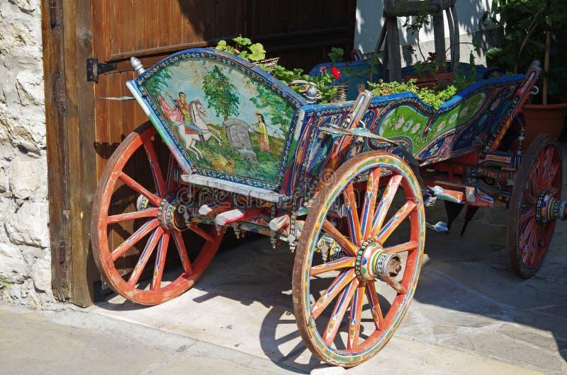 Carretto decorato tradizionale fotografie stock