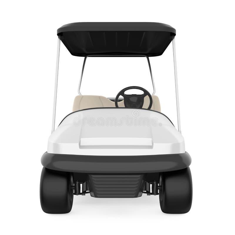 Carretto di golf isolato illustrazione di stock