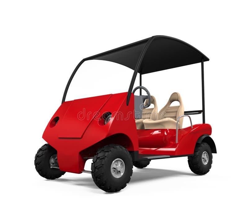 Carretto di golf rosso royalty illustrazione gratis