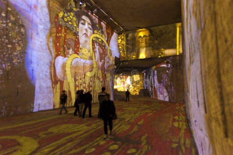 Carrières de Lumières Klimt royaltyfri foto