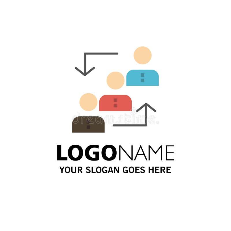 Carrière, avancement, employé, échelle, promotion, personnel, affaires Logo Template de travail couleur plate illustration de vecteur