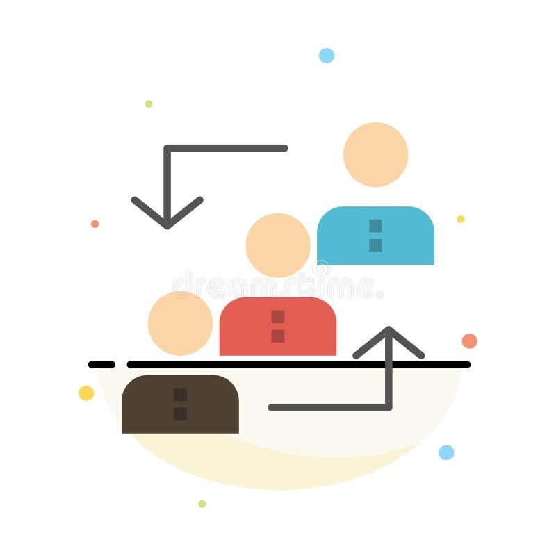 Carrière, avancement, employé, échelle, promotion, personnel, calibre plat d'icône de couleur d'abrégé sur travail illustration de vecteur