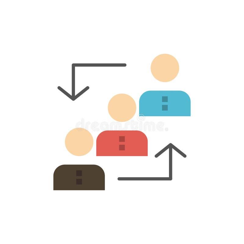 Carrière, avancement, employé, échelle, promotion, personnel, icône plate de couleur de travail Calibre de bannière d'icône de ve illustration libre de droits