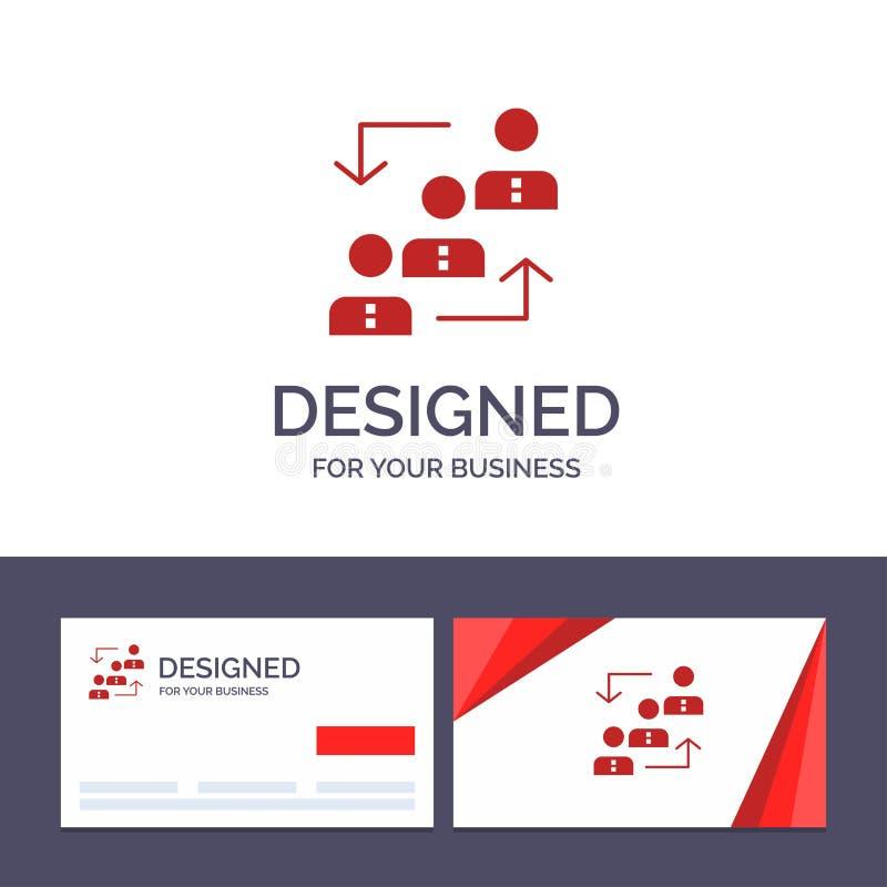 Carrière de visite de calibre créatif de carte de visite professionnelle et de logo, avancement, employé, échelle, promotion, per illustration libre de droits