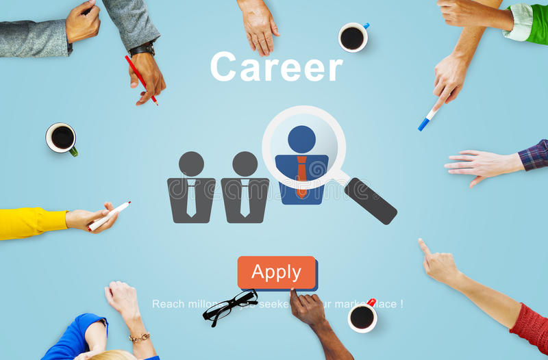 Carrière Job Profession Apply Hiring Concept royalty-vrije stock afbeelding