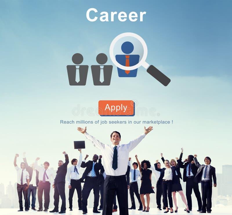 Carrière Job Profession Apply Hiring Concept royalty-vrije stock foto's