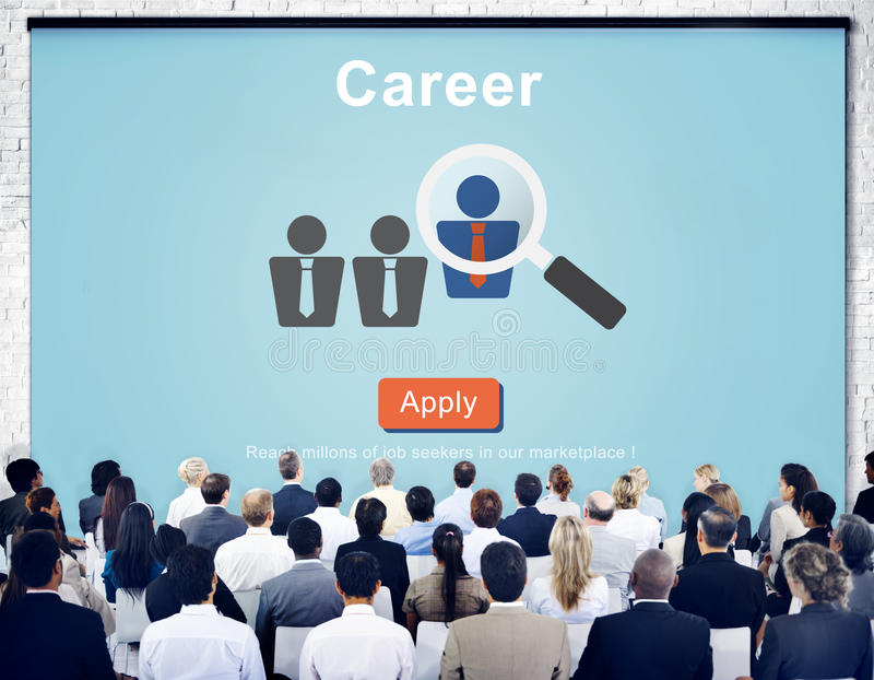 Carrière Job Profession Apply Hiring Concept royalty-vrije stock afbeeldingen