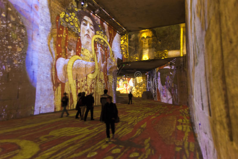 Carrieres de Lumieres Klimt royalty free stock photo