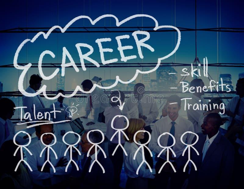 Carrièreswerkgelegenheid Job Recruitment Occupation Concept royalty-vrije stock foto