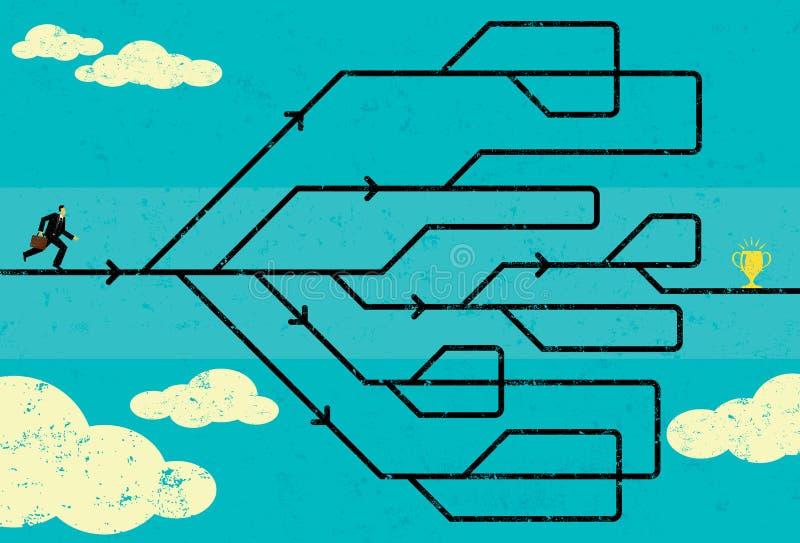 Carrièreweg vector illustratie