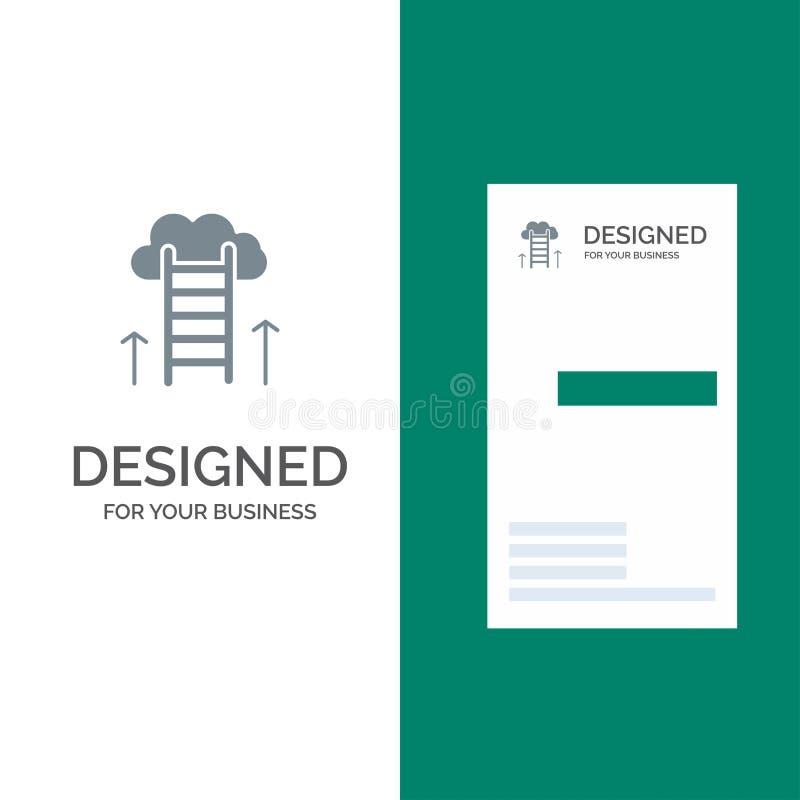 Carrièreweg, Carrière, Droom, Succes, Nadruk Grey Logo Design en Visitekaartjemalplaatje stock illustratie