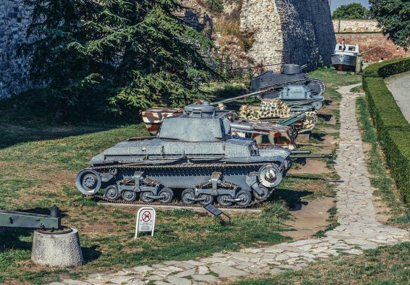 Carri armati a Belgrado fotografia stock libera da diritti